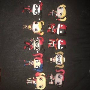 Lot of 10 Harley Quinn Pop Funkos